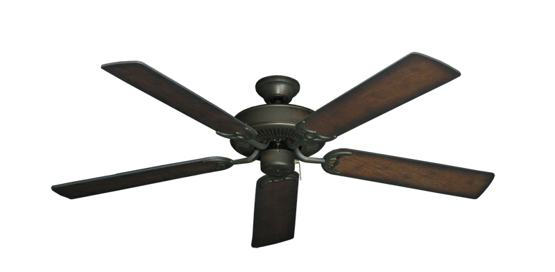 """Picture of Bermuda Breeze V Oil Rubbed Bronze with 52"""" Distressed Hickory Blades"""