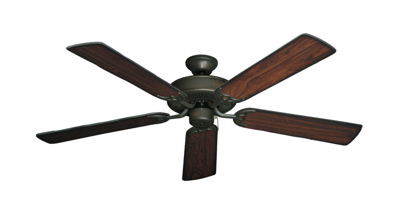 """Picture of Bermuda Breeze V Oil Rubbed Bronze with 52"""" Burnt Cherry Blades"""