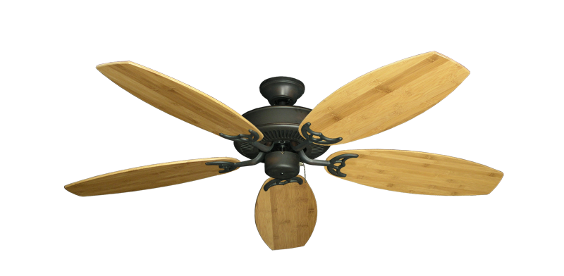 """Picture of Bermuda Breeze V Oil Rubbed Bronze with 52"""" Oar Bamboo Brown Blades"""