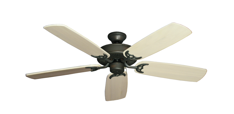"""Picture of Bermuda Breeze V Oil Rubbed Bronze with 52"""" Series 425 Arbor Whitewash Blades"""