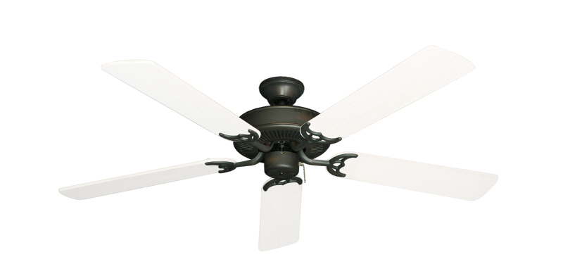 """Bermuda Breeze V Oil Rubbed Bronze with 52"""" Outdoor Pure White Blades"""