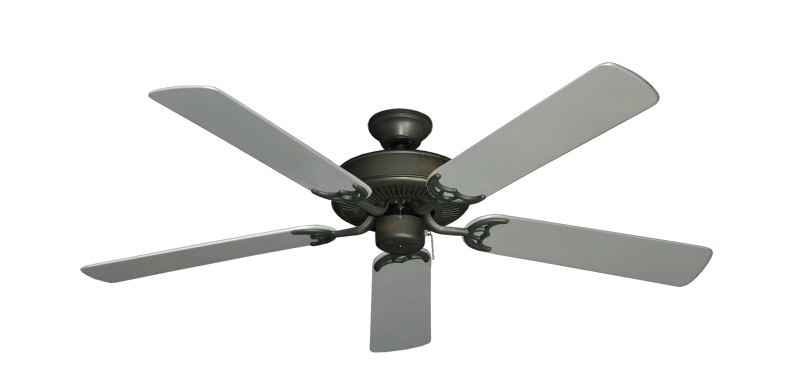 "Picture of Bermuda Breeze V Oil Rubbed Bronze with 52"" Outdoor Brushed Nickel Blades"