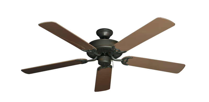 """Bermuda Breeze V Oil Rubbed Bronze with 52"""" Outdoor Brown Blades"""