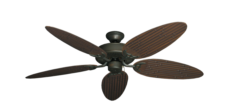 "Picture of Bermuda Breeze V Oil Rubbed Bronze with 52"" Outdoor Bamboo Oil Rubbed Bronze Blades"
