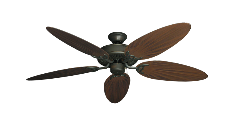 "Picture of Bermuda Breeze V Oil Rubbed Bronze with 52"" Outdoor Palm Oil Rubbed Bronze Blades"