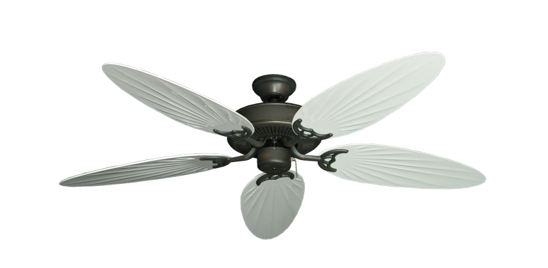 "Picture of Bermuda Breeze V Oil Rubbed Bronze with 52"" Outdoor Palm Pure White Blades"