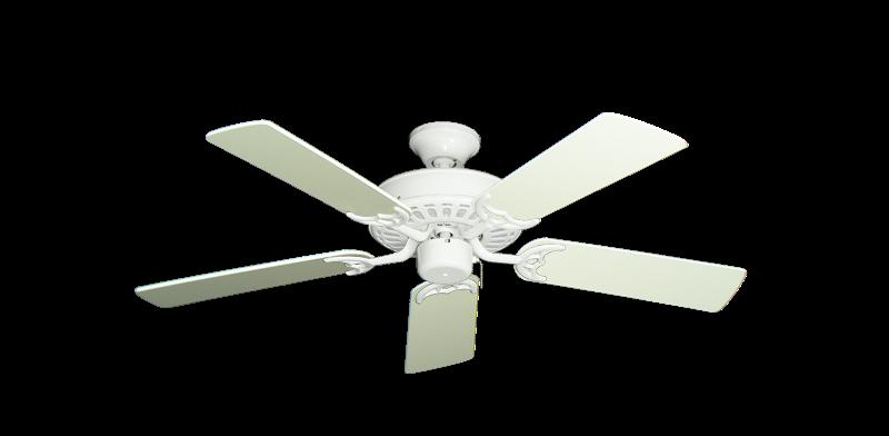 """Picture of Bimini Breeze V Pure White with 44"""" Antique White Blades"""