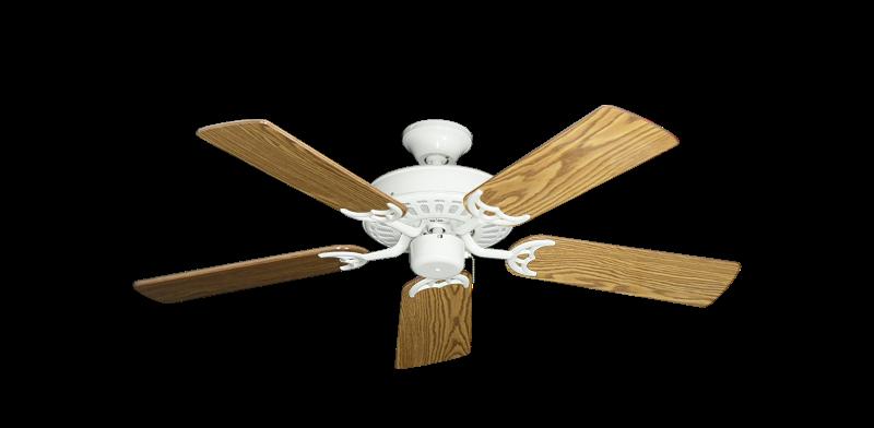 "Picture of Bimini Breeze V Pure White with 44"" Oak Gloss Blades"