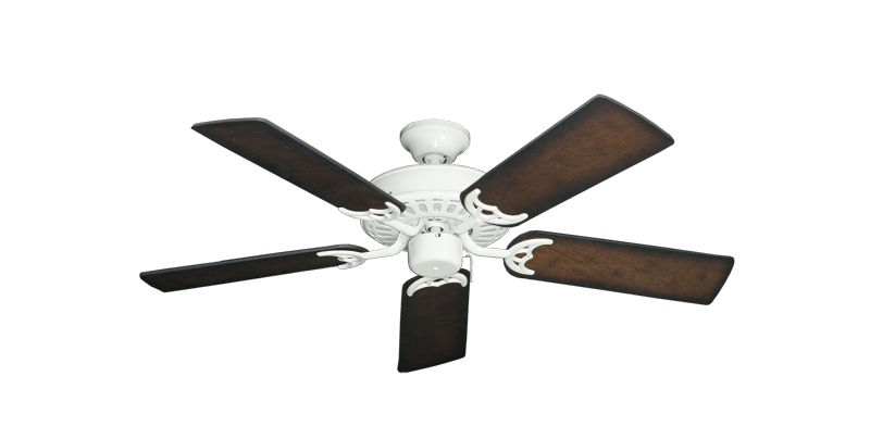 """Picture of Bimini Breeze V Pure White with 44"""" Distressed Hickory Blades"""
