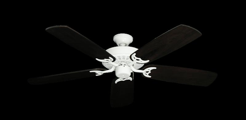"Picture of Bimini Breeze V Pure White with 52"" Series 425 Arbor Dark Walnut Blades"