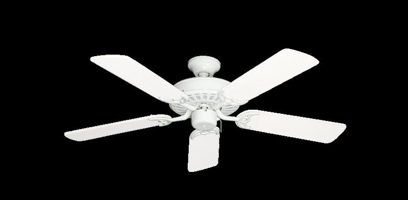 "Picture of Bimini Breeze V Pure White with 44"" Outdoor Pure White Blades"