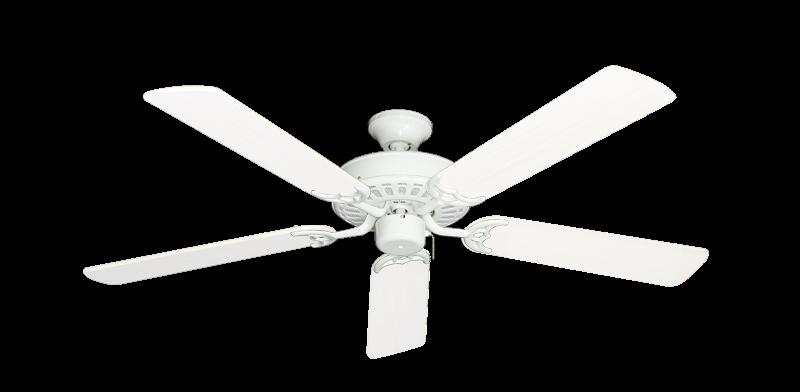"Bimini Breeze V Pure White with 52"" Outdoor Pure White Blades"