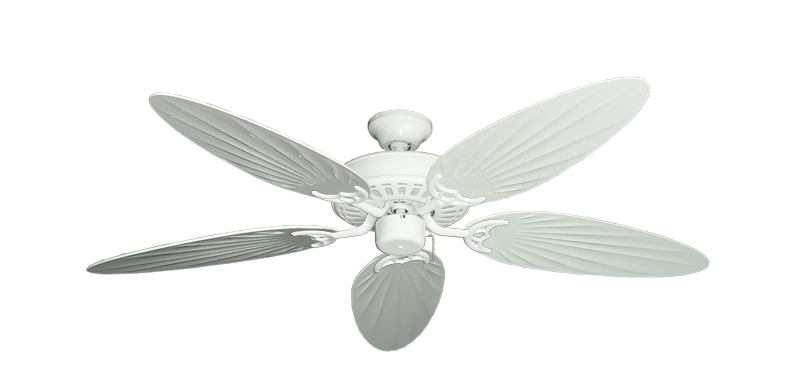 """Picture of Bimini Breeze V Pure White with 52"""" Outdoor Palm Pure White Blades"""
