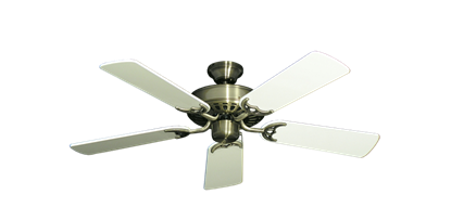"""Picture of Bimini Breeze V Antique Brass with 44"""" Antique White Gloss Blades"""