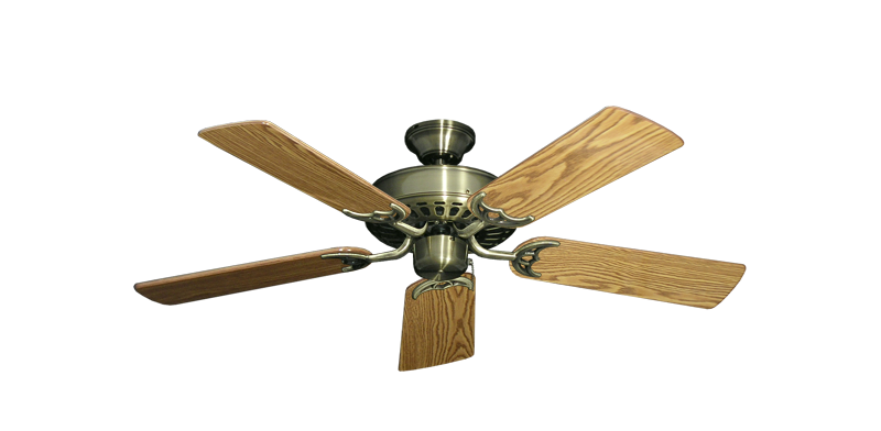 "Picture of Bimini Breeze V Antique Brass with 44"" Oak Gloss Blades"