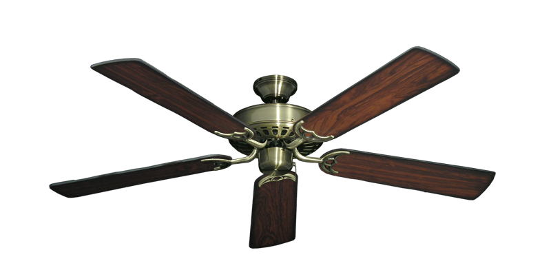 """Picture of Bimini Breeze V Antique Brass with 52"""" Burnt Cherry Blades"""