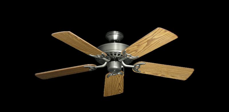 """Bimini Breeze V Satin Steel with 44"""" Oak Gloss Blades"""