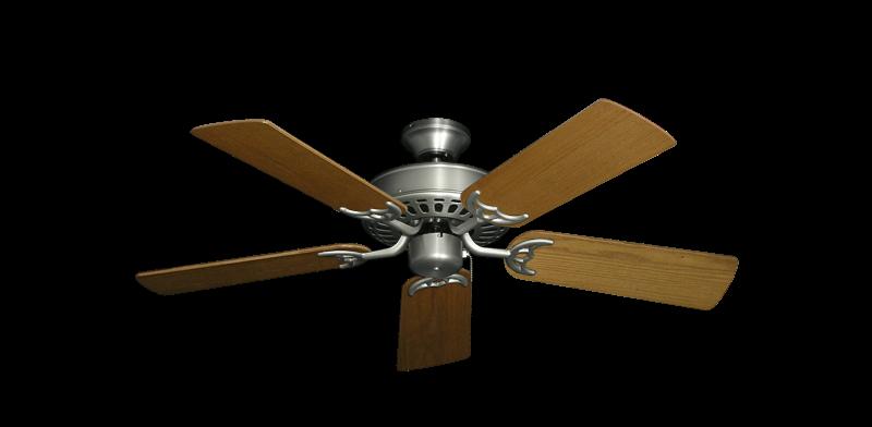 "Picture of Bimini Breeze V Satin Steel with 44"" Light Oak Blades"