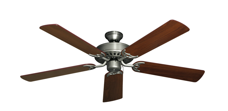 "Picture of Bimini Breeze V Satin Steel with 52"" Walnut Blades"