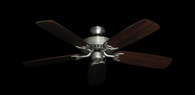 "Bimini Breeze V Satin Steel with 52"" Series 425 Arbor Cherrywood Blades"
