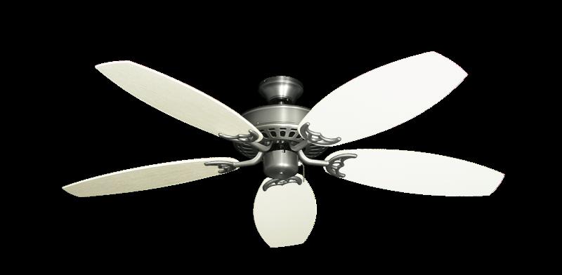 "Bimini Breeze V Satin Steel with 52"" Outdoor Oar Antique White Blades"
