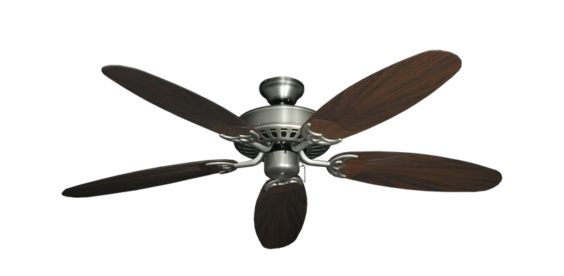 "Bimini Breeze V Satin Steel with 52"" Outdoor Leaf Oil Rubbed Bronze Blades"