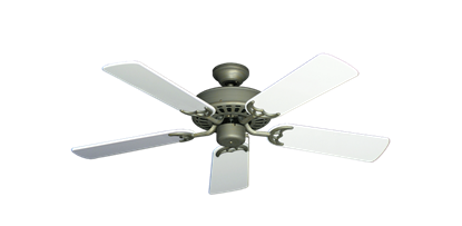 "Picture of Bimini Breeze V Antique Bronze with 44"" Pure White Gloss Blades"