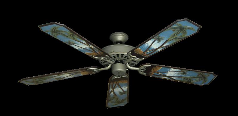"Bimini Breeze V Antique Bronze with 52"" Series 351 Arbor Palm Tree Blades"