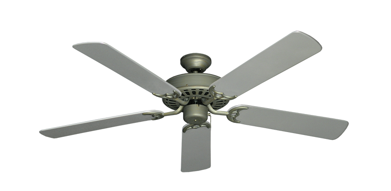 "Picture of Bimini Breeze V Antique Bronze with 52"" Outdoor Brushed Nickel Blades"