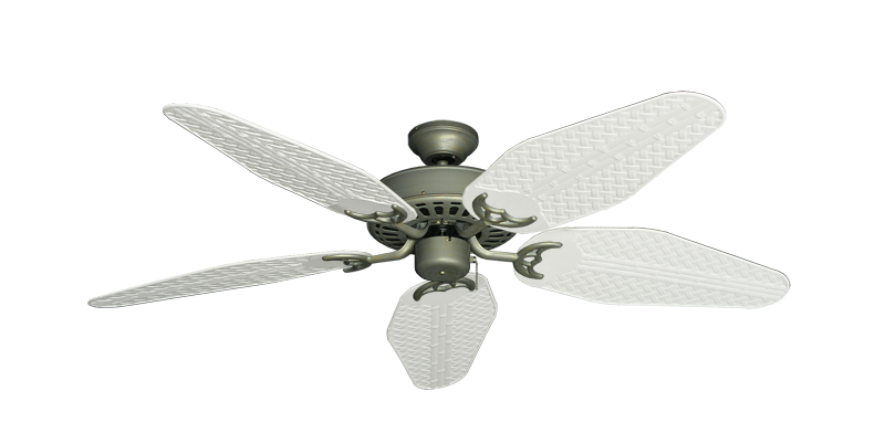 "Picture of Bimini Breeze V Antique Bronze with 52"" Outdoor Weave Pure White Blades"