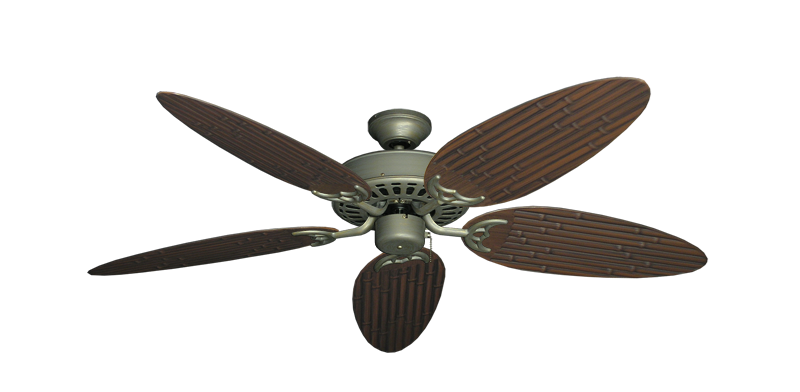 "Picture of Bimini Breeze V Antique Bronze with 52"" Outdoor Bamboo Oil Rubbed Bronze Blades"