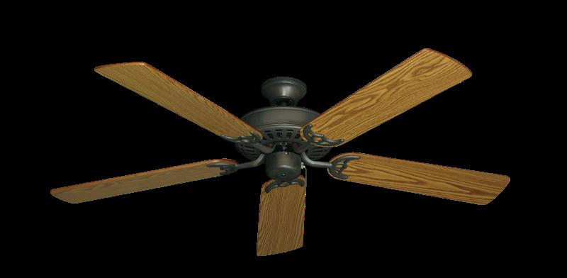 "Picture of Bimini Breeze V Oil Rubbed Bronze with 52"" Oak Blades"