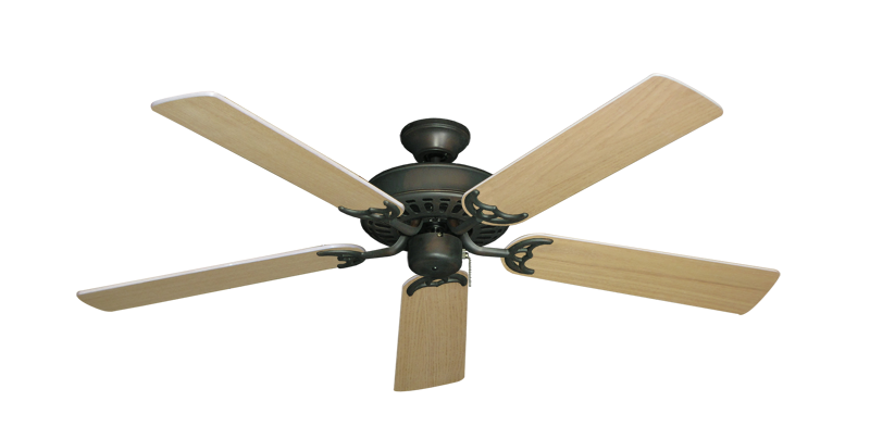 """Picture of Bimini Breeze V Oil Rubbed Bronze with 52"""" Unfinished Oak Blades"""