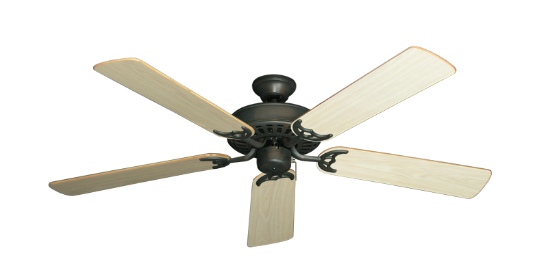 "Picture of Bimini Breeze V Oil Rubbed Bronze with 52"" Bleached Oak Gloss Blades"