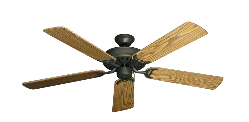 "Picture of Bimini Breeze V Oil Rubbed Bronze with 52"" Oak Gloss Blades"
