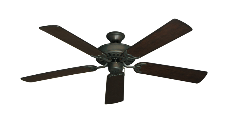 """Picture of Bimini Breeze V Oil Rubbed Bronze with 52"""" Distressed Walnut Blades"""
