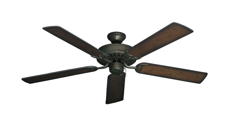 """Bimini Breeze V Oil Rubbed Bronze with 52"""" Distressed Hickory Blades"""