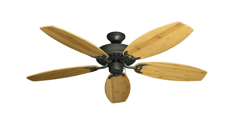 "Picture of Bimini Breeze V Oil Rubbed Bronze with 52"" Oar Bamboo Brown Blades"
