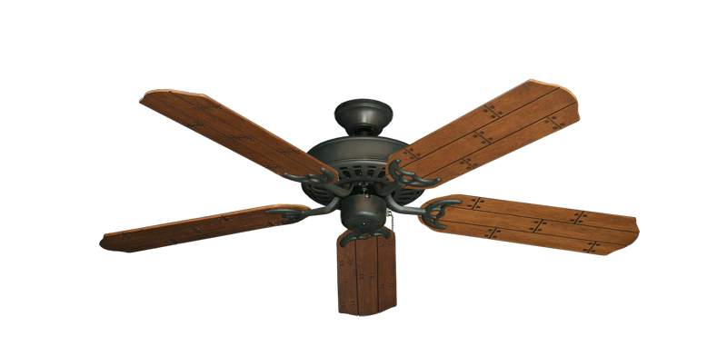 "Picture of Bimini Breeze V Oil Rubbed Bronze with 52"" Cherry Plank Blades"