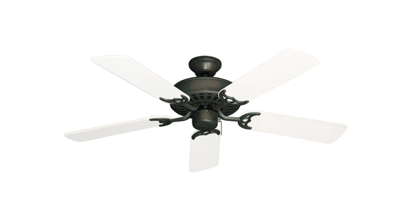 """Picture of Bimini Breeze V Oil Rubbed Bronze with 44"""" Outdoor Pure White Blades"""