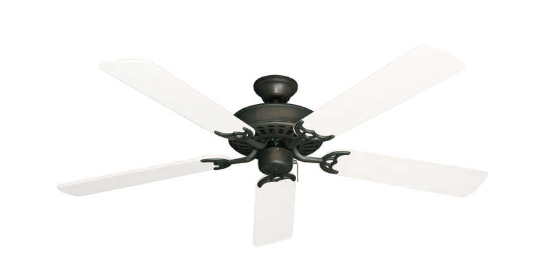 """Picture of Bimini Breeze V Oil Rubbed Bronze with 52"""" Outdoor Pure White Blades"""