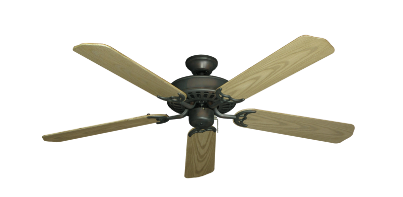"Picture of Bimini Breeze V Oil Rubbed Bronze with 52"" Outdoor Bleached Oak Blades"