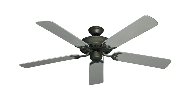 "Picture of Bimini Breeze V Oil Rubbed Bronze with 52"" Outdoor Brushed Nickel Blades"