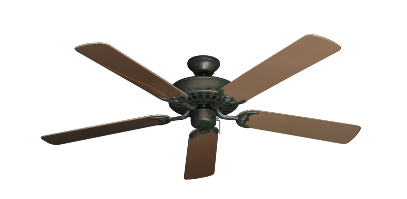 "Bimini Breeze V Oil Rubbed Bronze with 52"" Outdoor Brown Blades"