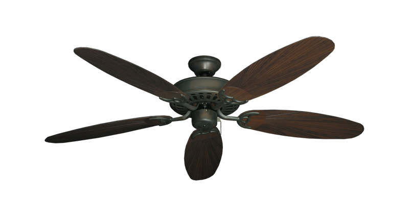 """Bimini Breeze V Oil Rubbed Bronze with 52"""" Outdoor Leaf Oil Rubbed Bronze Blades"""
