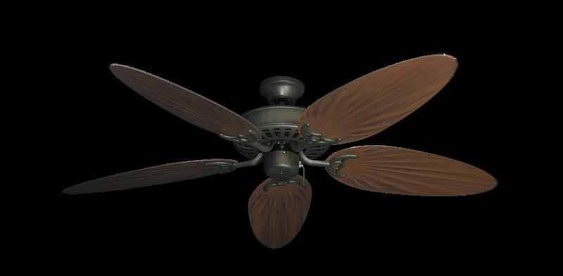 "Bimini Breeze V Oil Rubbed Bronze with 52"" Outdoor Palm Oil Rubbed Bronze Blades"