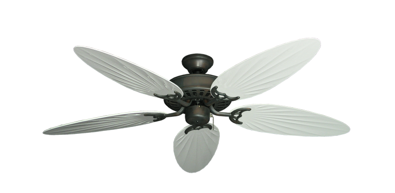 "Picture of Bimini Breeze V Oil Rubbed Bronze with 52"" Outdoor Palm Pure White Blades"