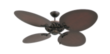 """Corsica Oil Rubbed Bronze with 54"""" Large Oval Distressed Walnut Blades"""