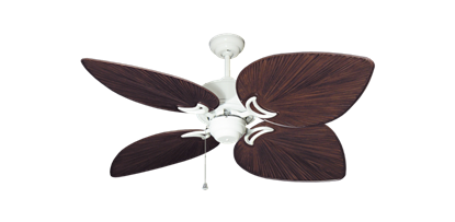 """Picture of Bombay Pure White with 50"""" Bombay Oil Rubbed Bronze Blades"""