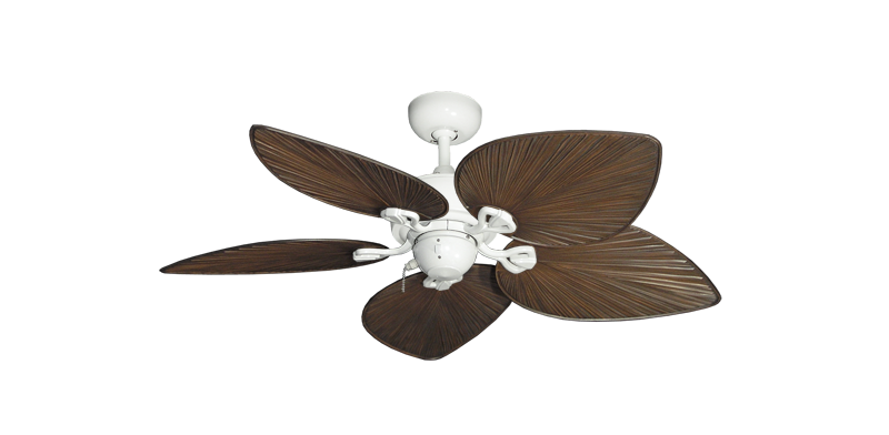 """42"""" Bombay Pure White with 42"""" Bombay Oil Rubbed Bronze Blades"""